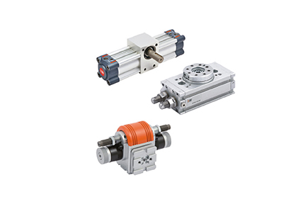 Stout and powerful rotary actuators for torques up to 120 Nm, diameters from 12 to 100 mm